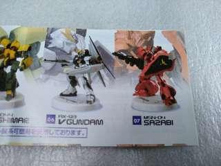 高達 mini figure selection plus-1 (MFS 2隻) (ⅴ gundam + sazabi)