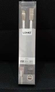 BNIB LDNIO Type C USB Data Cable Type C(Fast Charging)