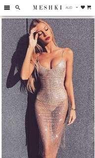 Rose gold jewelled dress
