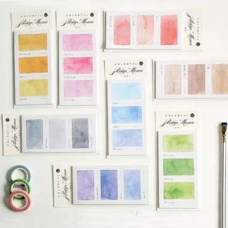 🚚 [In stock] Gradient Watercolor Swatches PostIt