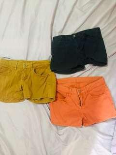 Lot of 3 uniqlo shorts