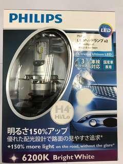 飛利浦 Philips X-treme Ultinon LED 白光車頭燈燈泡 (H4)
