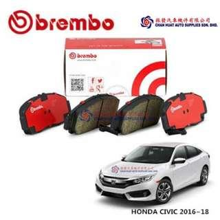 Honda Civic FC 2016~2018 (TEA) Brembo Front Brake Pad (SET)