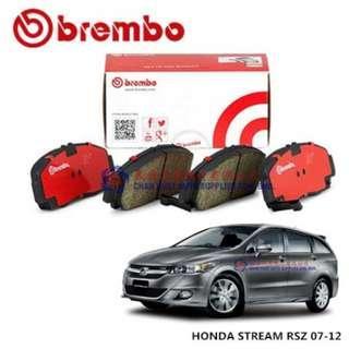 Honda Stream RSZ 2007~12 Brembo Front Brake Pad (SET)