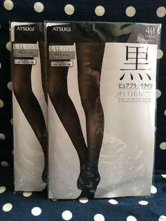 全新日本製 Atsugi 黑色絲襪 Made in Japan