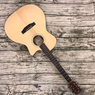 Pukana-la PG-GA1C Acoustic Guitar, Grand Auditrium /w cutaway, Solid Spruce Top