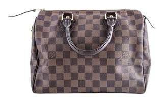 AUTHENTIC Louis Vuitton Speedy 25 Bag in Damier Ebene Print (No Strap)
