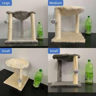 cat kitten scratch post pole tree condo climb hammock bed, not carrier cage
