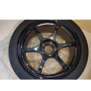 "Genuine Advan RG2 18""rims"