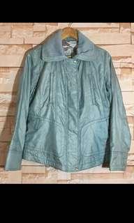 Metallic light green bomber jacket