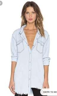 🌿 One Teaspoon Chambray Shirt Xs oversized fit 💕