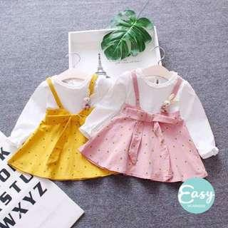 Baby Toddlers Cutie Summer Long Sleeve Dress