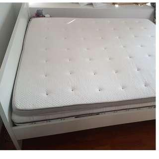 Bed Frame King Size + 2 mattress + 1 topper - Ikea