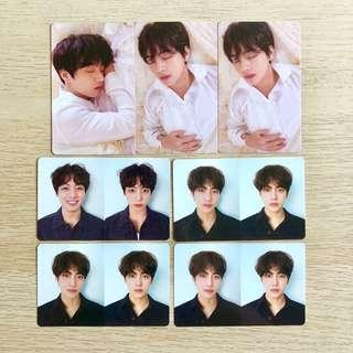 BTS Love Yourself LY 轉 TEAR Official Jeon Jungkook JK Kim Taehyung V Photocard YOUR Y O U R Version
