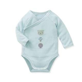 Long Sleeve Baby Romper - Blue Romper Grey Bear Romper [PO] / Cute Romper / Newborn Onesies Baby Girls Boys Fashion Dress Kids Children Clothing Korean