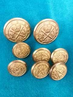 英囯古典銅钮一套