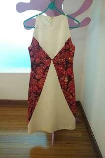 Ladies Dinner Dress (creme / red)