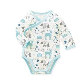 Long Sleeve Baby Romper - Blue Woodland Romper [PO] / Cute Romper / Newborn Onesies Baby Girls Boys Fashion Dress Kids Children Clothing Korean