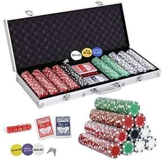 Poker Set with Aluminum Case 500 pcs