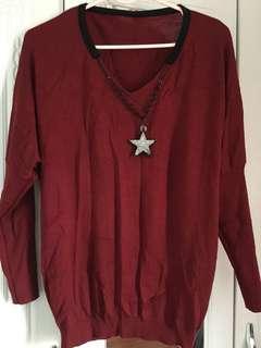 Maroon Star Sweatshirt