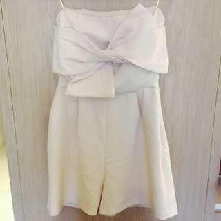 Topshop nude playsuit
