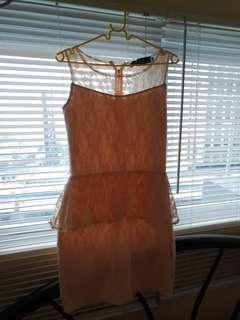 Peplum Laced Dress