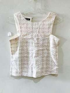 Atasan top tweed