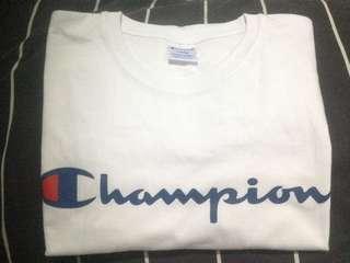 Champion Script Logo Tee Original Size L