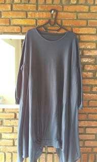 Long dress Navy biru dongker  panjang #oktosale