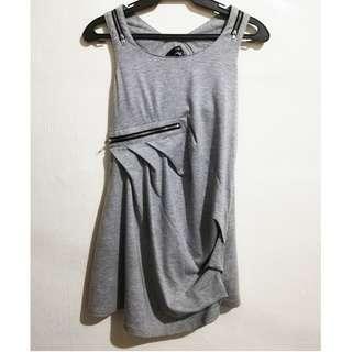 Grey zipper dress