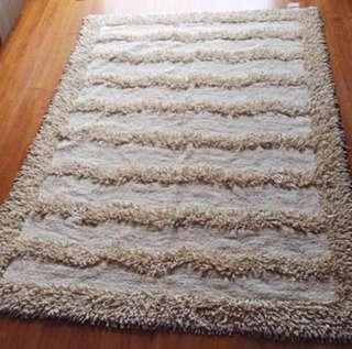 Pure cotton shaggy rug carpet