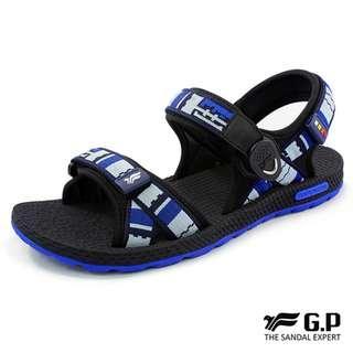 GP~阿亮代言~男款時尚休閒織帶涼鞋~圓形磁扣~可調式前中後帶~GP涼鞋~G8658M-22