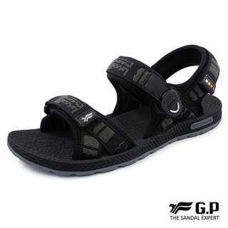 GP~阿亮代言~男款時尚休閒織帶涼鞋~圓形磁扣~可調式前中後帶~GP涼鞋~G8658M-10