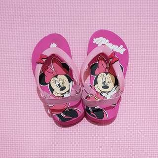 Sandal jepit Minnie Mouse, size 25