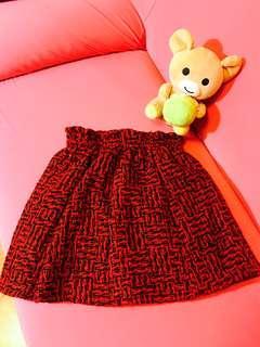 🚚 聖誕紅格子短裙