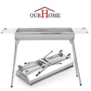 Portable BBQ Grill Rack Outdoor Barbecue Pit