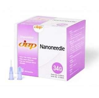 Japan JBP Nanoneedle 34G Ultra-thin Wall 4mm Box of 100 Needles