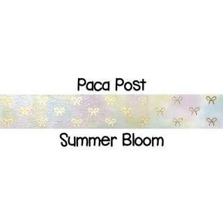 Paca Post Summer Bloom Washi Tape Samples