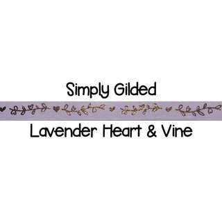 Simply Gilded Lavender Heart & Vine Washi Tape Samples