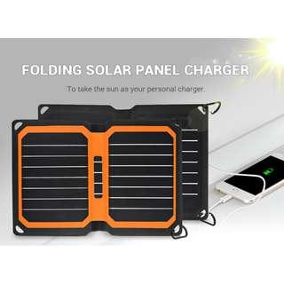 Portable 9W Folding Solar Panel Charger Water-resistant Mobile Power Bank
