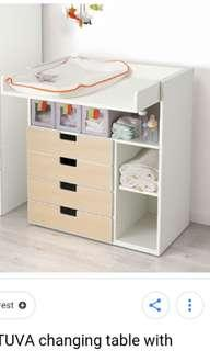 Ikea stuva changing table