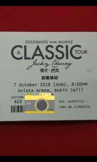 Jackie Cheung concert x 2 tickets