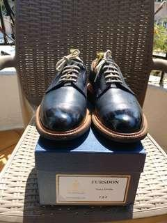 Herring x Cheaney Navy Blue Grain Leather Derby w/ Commando Soles