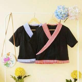 Kimono ruffle top