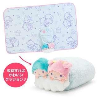 日本新貨預購: Little twin stars 公仔毛毯(3-way)