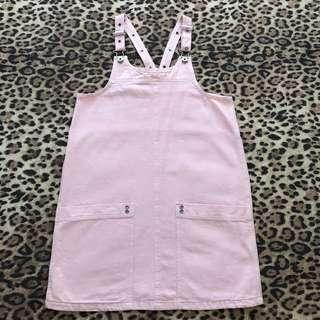 Baby Pink Denim Dress (M)