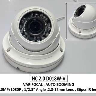 Smart Watch Varifocal Dome 2.0mp CCTV Camera
