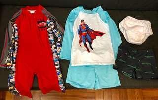 Boys swimwear bundle size 2-3Y
