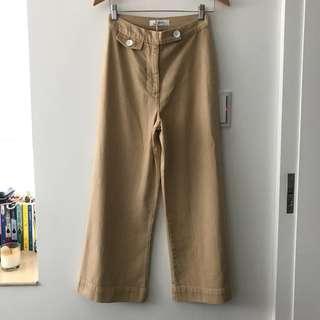Zara 杏色牛仔褲