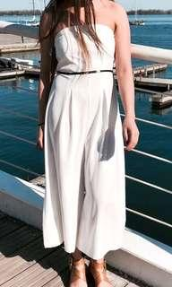 White Tube Jumpsuit